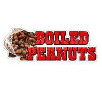 "Boiled Peanuts ConcessionデカールサインCajunカートトレーラースタンドステッカー 48"""