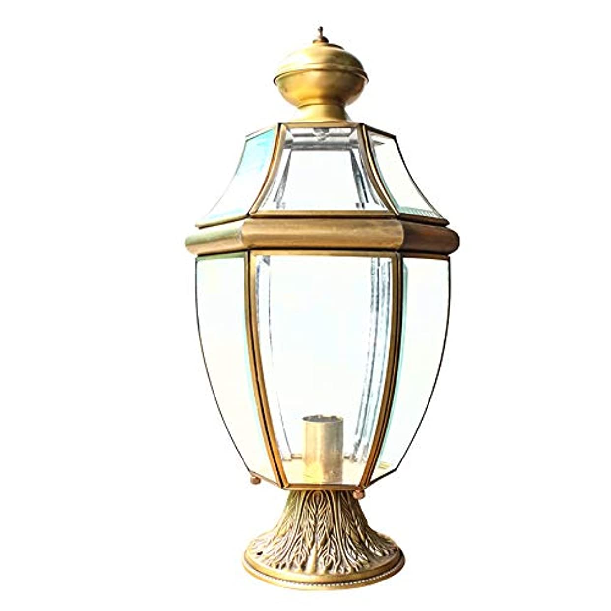 明確に専門用語つかの間Pinjeer ヴィンテージE27銅屋外防水ガラスポストライトヨーロッパライト高級レトロ工業コラムランプホームヴィラドアストリートガーデン装飾柱ライト
