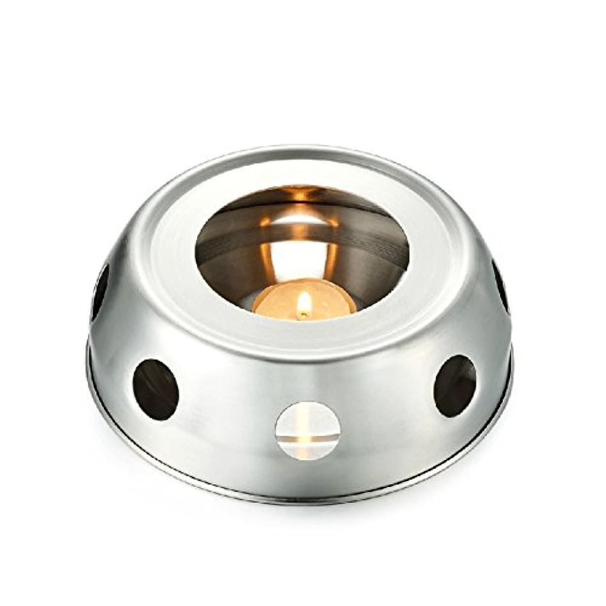 皮肉四半期小石funnytoday365 Teaヒーター暖房のティーポットincenseplate Essencial OilステンレススチールFurnace Candleヒーターストーブ