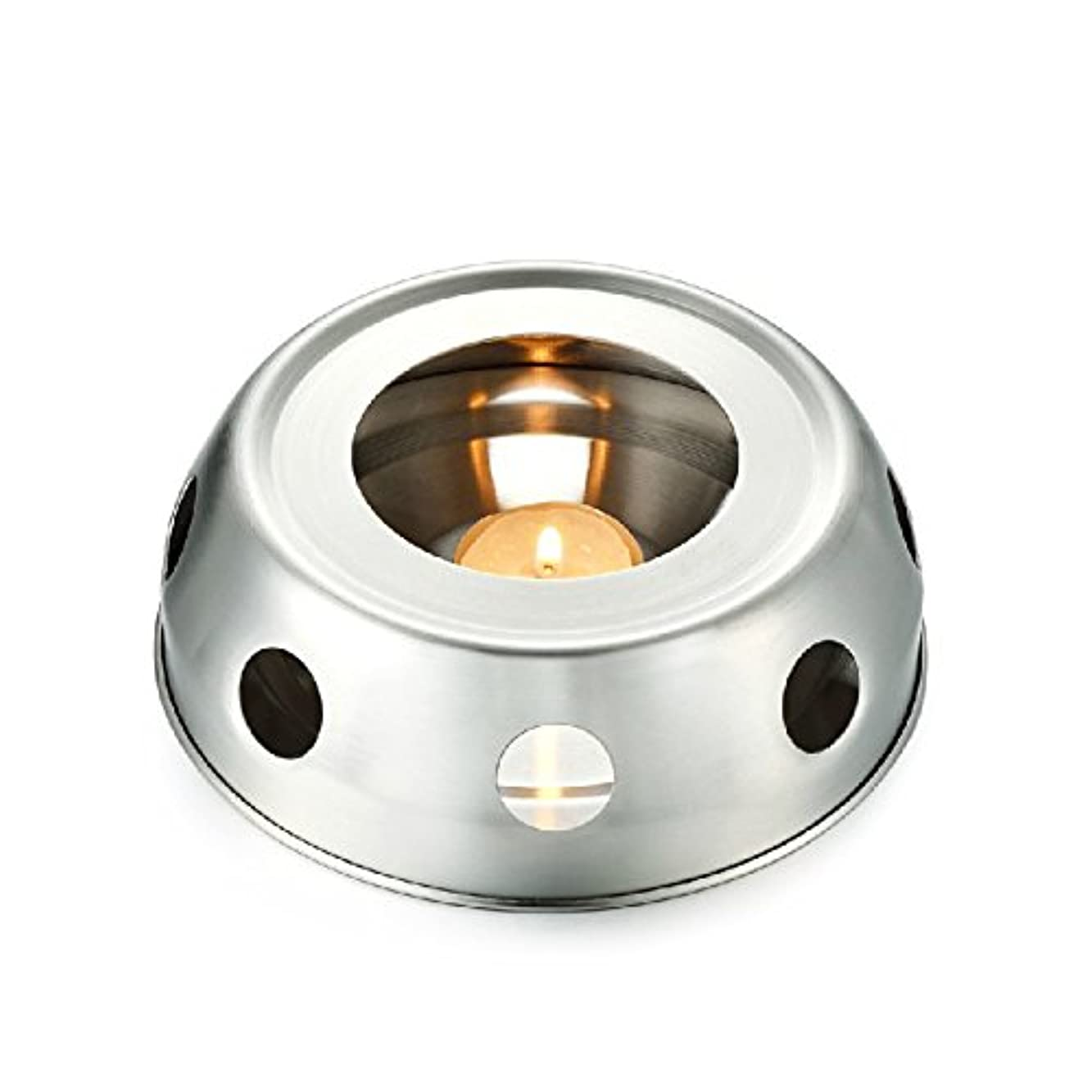 層集団的暴君funnytoday365 Teaヒーター暖房のティーポットincenseplate Essencial OilステンレススチールFurnace Candleヒーターストーブ