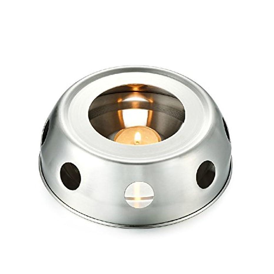 混乱資本大きさfunnytoday365 Teaヒーター暖房のティーポットincenseplate Essencial OilステンレススチールFurnace Candleヒーターストーブ