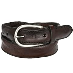 Leather Belt: Dark Brown