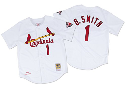 Mitchell & Ness Ozzie Smith 1992 Authentic Jerseyカージナルスのホワイト3 x l