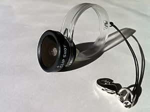 """CLIP SHOT"" SUPER WIDE カメラ付きモバイル向けコンバージョンレンズ ""クリップショット"" 超広角レンズ(ブラック)"