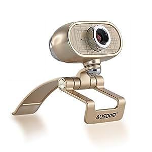 AUSDOM ウェブカメラ FullHD(1080P) 画質 ウェブカム 1/4.5インチCMOSセンサ200万画素 マイク内蔵 360度回転 AW920