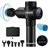 MECO Percussive Vibration Therapy Black Massage Gun Massager Athlete Sports Recovery+Carry Bag