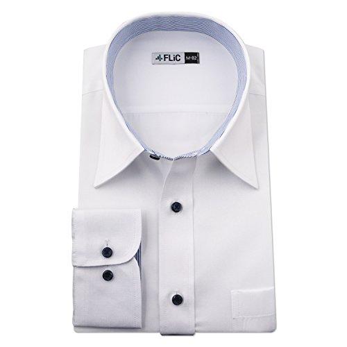 ワイシャツ専門店 FLiC ワイシャツ 長袖 形態安定 20種類から選べる ホリゾンタル ボタンダウン レギュラーカラー/nh B07K1CYDVT 1枚目