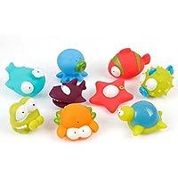 お風呂用おもちゃ シャワー 水遊び 水鉄砲 海洋動物おもちゃ かわいい動物 9個セット 大人気のおもちゃ