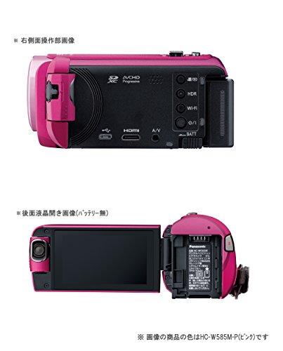 『パナソニック HDビデオカメラ W585M 64GB ワイプ撮り 高倍率90倍ズーム ホワイト HC-W585M-W』の5枚目の画像