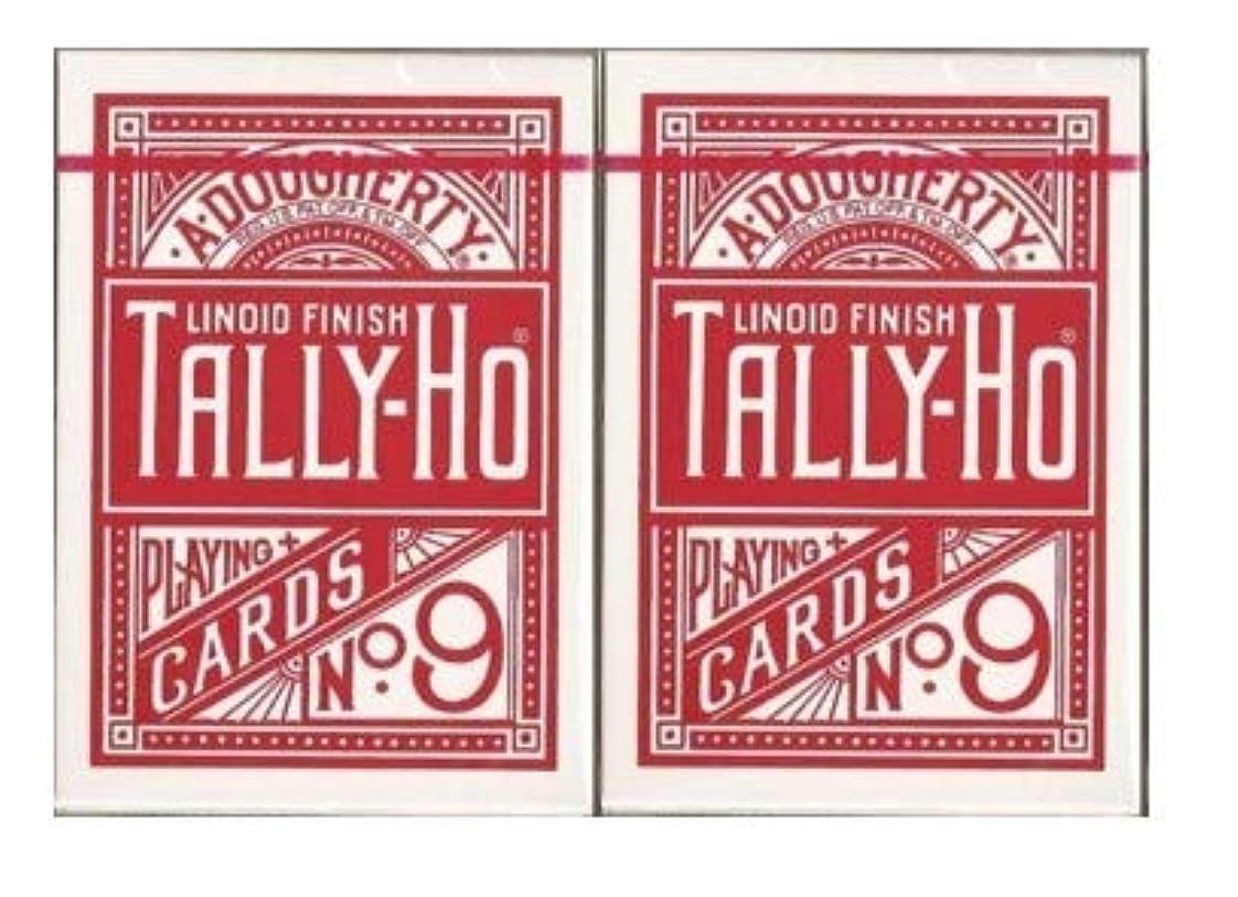 穿孔する曲線指標【まとめ買い】TALLY-HO(タリホー) Circle Back(サークルバック) トランプ 赤 / 赤 ポーカーサイズ