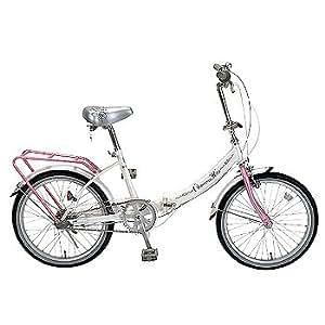 チャーミーキティ 内装3段変速 20インチ折畳自転車 ホワイト