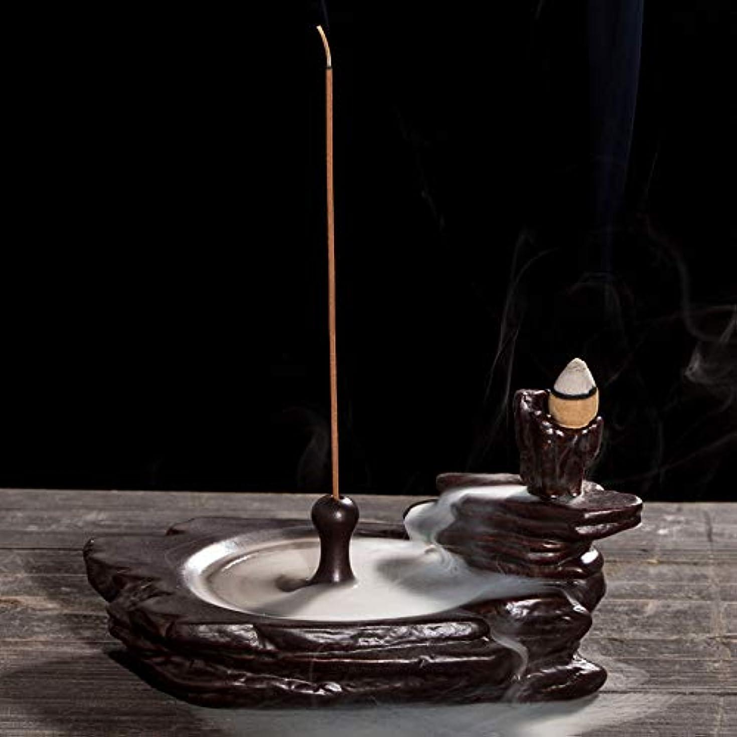 解釈的均等に枢機卿リフロー香炉ホームオフィス装飾香スティックフレーム還流香炉16.5 * 9 cmに適したセラミック香炉ブラケット