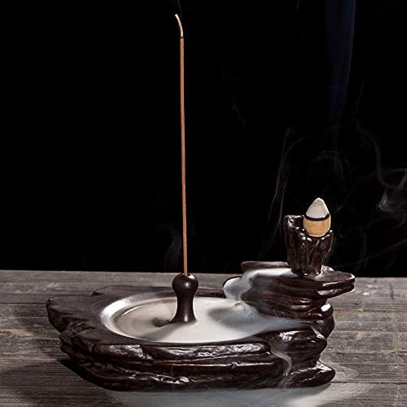 彼ら高さ恋人リフロー香炉ホームオフィス装飾香スティックフレーム還流香炉16.5 * 9 cmに適したセラミック香炉ブラケット