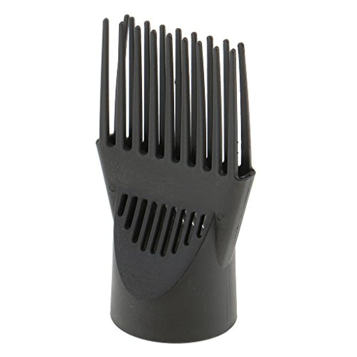 描く原始的な簡単なToygogo プロフェッショナルユニバーサル理髪サロンヘアドライヤーディフューザー風ブローカバーコームアタッチメントノズルブラックプラスチックデュアルグリップ