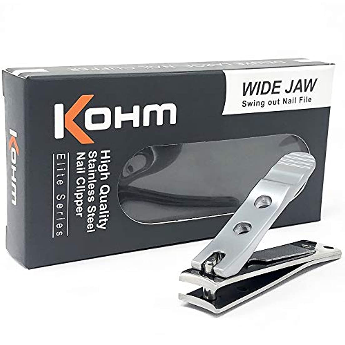 騒乱回答再開Kohm WHS-440L厚手の爪のための足のつかみ4mmの広い顎、湾曲した刃、釘のファイル、ヘビーデューティ。