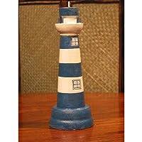 アズインターナショナル 手作り灯台グッズ キャンドルスタンドL 青灯
