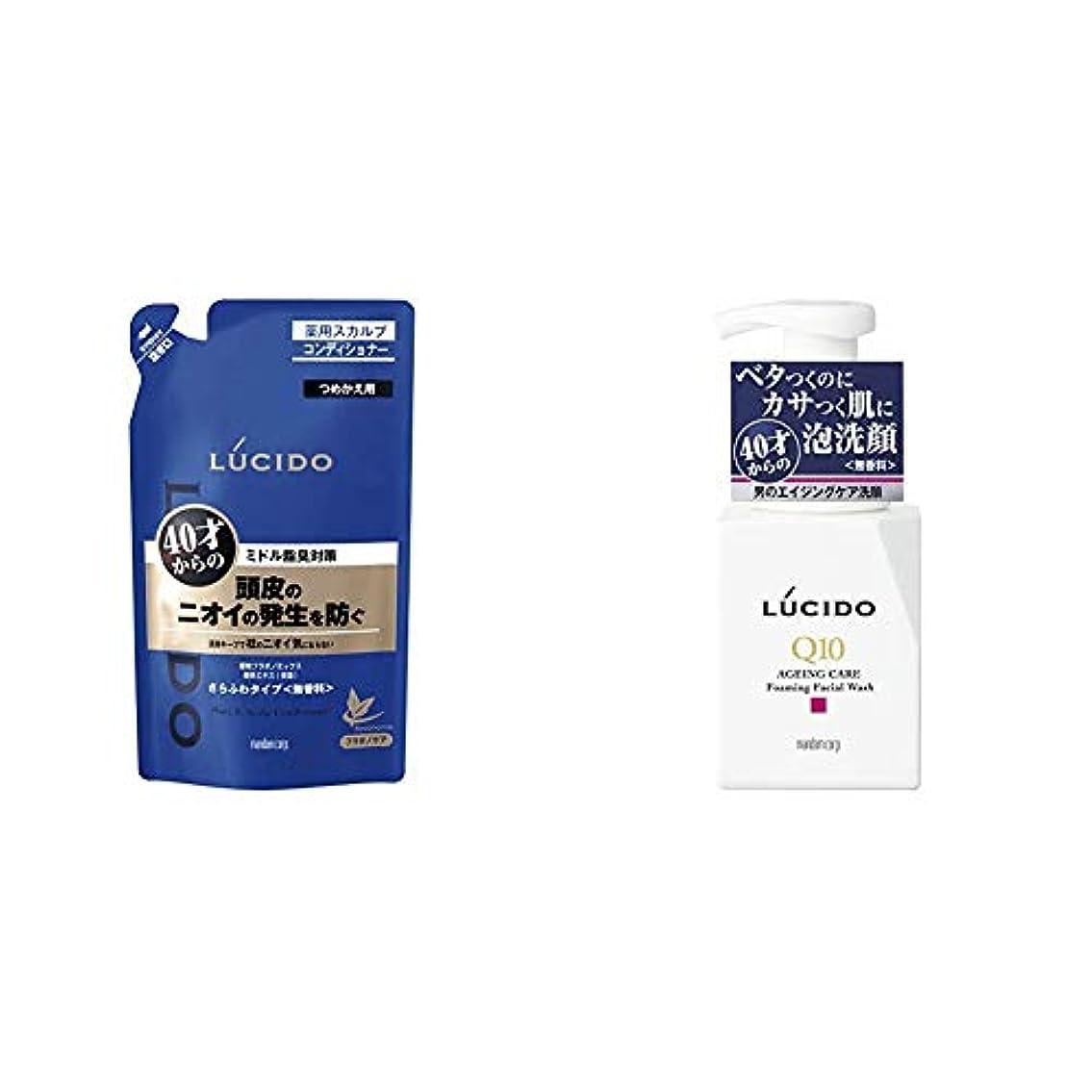 敬意コンパイルレプリカルシード 薬用ヘア&スカルプコンディショナー つめかえ用 380g(医薬部外品) & LUCIDO(ルシード) トータルケア泡洗顔 Q10 150mL