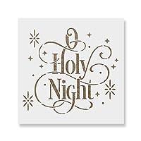 """O Holy Nightステンシルテンプレート–再利用可能なステンシルwith複数サイズあり 15""""x15"""""""