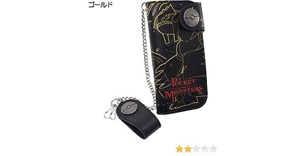25143f521d9e Amazon.co.jp: ポケットモンスター[財布:メンズ]チェーン付きロングウォレット/2022 ポケモン【ゴールド 】: おもちゃ