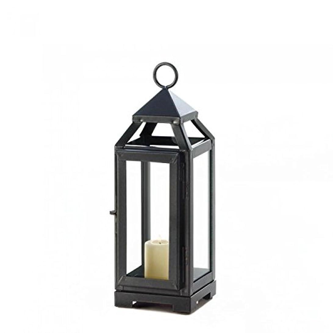 イタリック市の中心部避難するGallery of Light 10018134 Dark Gray Sleek Contemporary Candle Lantern - 11 in.