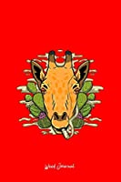 Weed Journal: Dot Grid Journal - Giraffe Cactus Smoking Weed Funny Cannabis Joint Animal Gift - Red Dotted Diary, Planner, Gratitude, Writing, Travel, Goal, Bullet Notebook - 6x9 120 pages