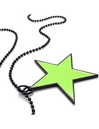 [テメゴ ジュエリー]TEMEGO Jewelry メンズ合金ファッションペンタグラムペンダントネックレスチェーン、グリーンブラック [インポート]