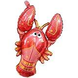 Homyl エビの形 風船 フォイルバルーン アルミ箔 飾り 誕生日パーティー 贈り物 装飾