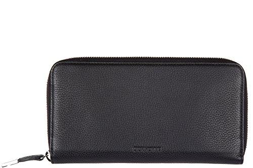 (ディオール オム) DIOR HOMME ブラック 型押しレザー ジップアラウンド長財布 小銭入れあり 2DSBC011-TAB900