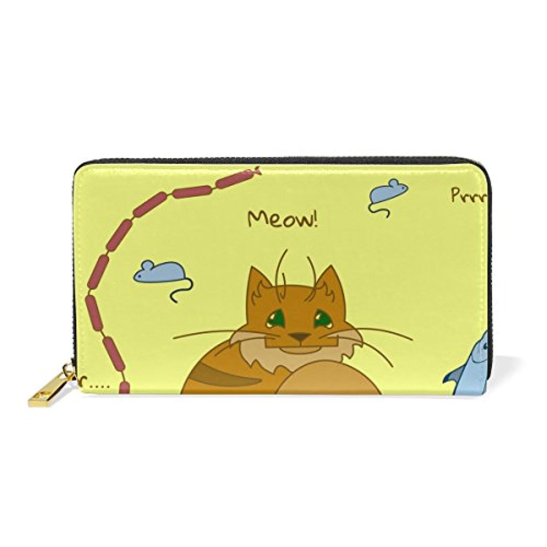 Anmumi 財布 長財布 レディーズ 大容量 本革 二つ折り カード入れ PUレザー 多機能 人気 かわいい