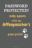 Password Protected! only opens with my Affenpinscher's paw print!: For Affenpinscher Dog Fans