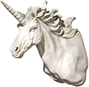 Design Toscano KY722072 Alicorn Unicorn Trophy Wall Sculpture, Antique Stone