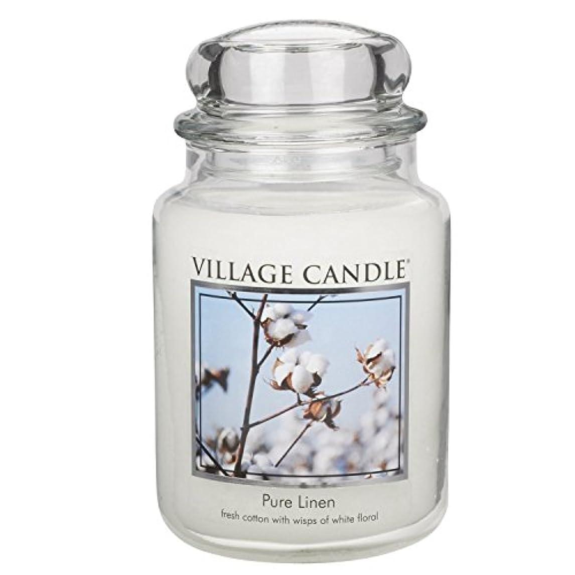 クーポン密ポンペイVillage Candle Large Fragranced Candle Jar - 17cm x 10cm - 26oz (1219g)- Pure Linen - upto 170 hours burn time...