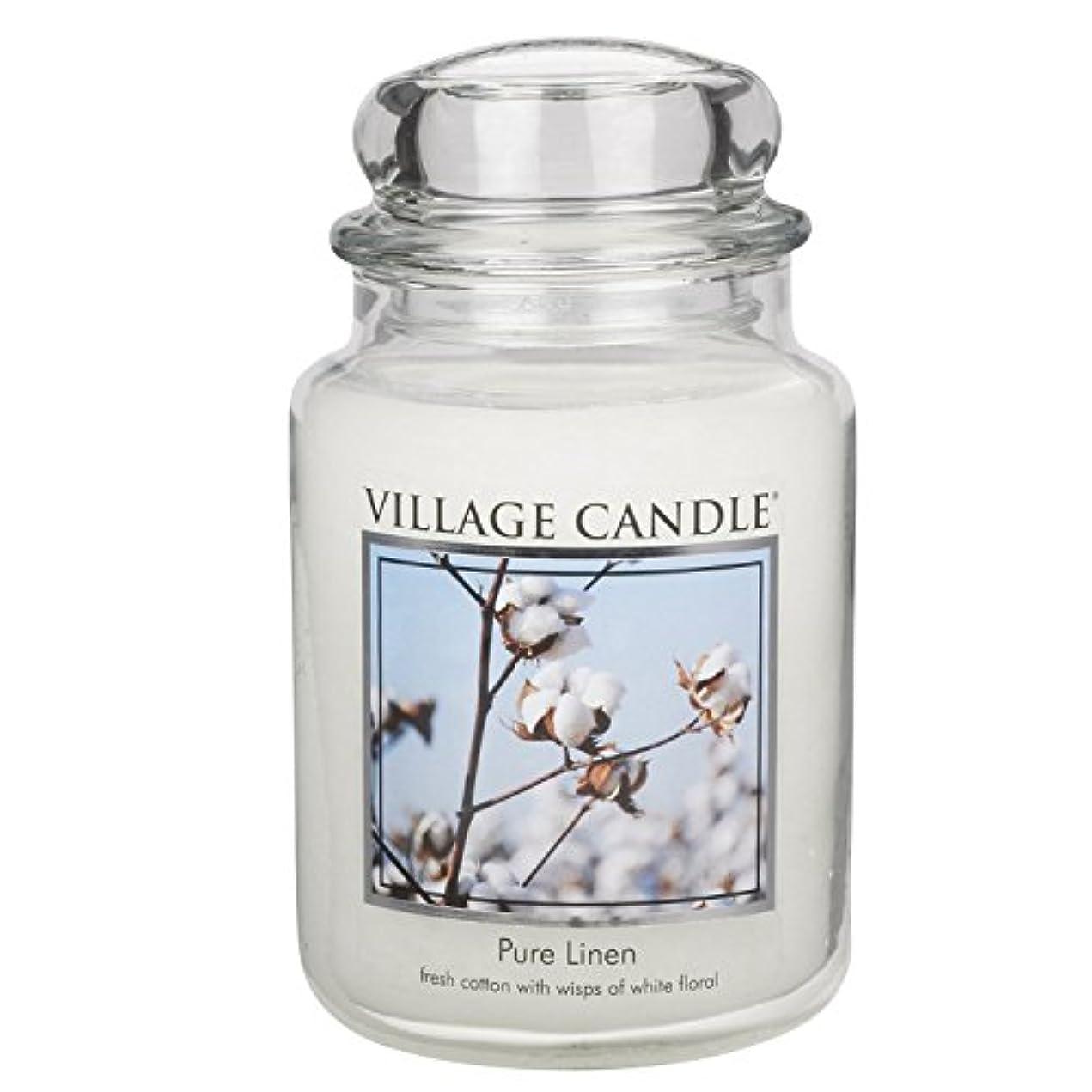 極貧魅了するクリックVillage Candle Large Fragranced Candle Jar - 17cm x 10cm - 26oz (1219g)- Pure Linen - upto 170 hours burn time...