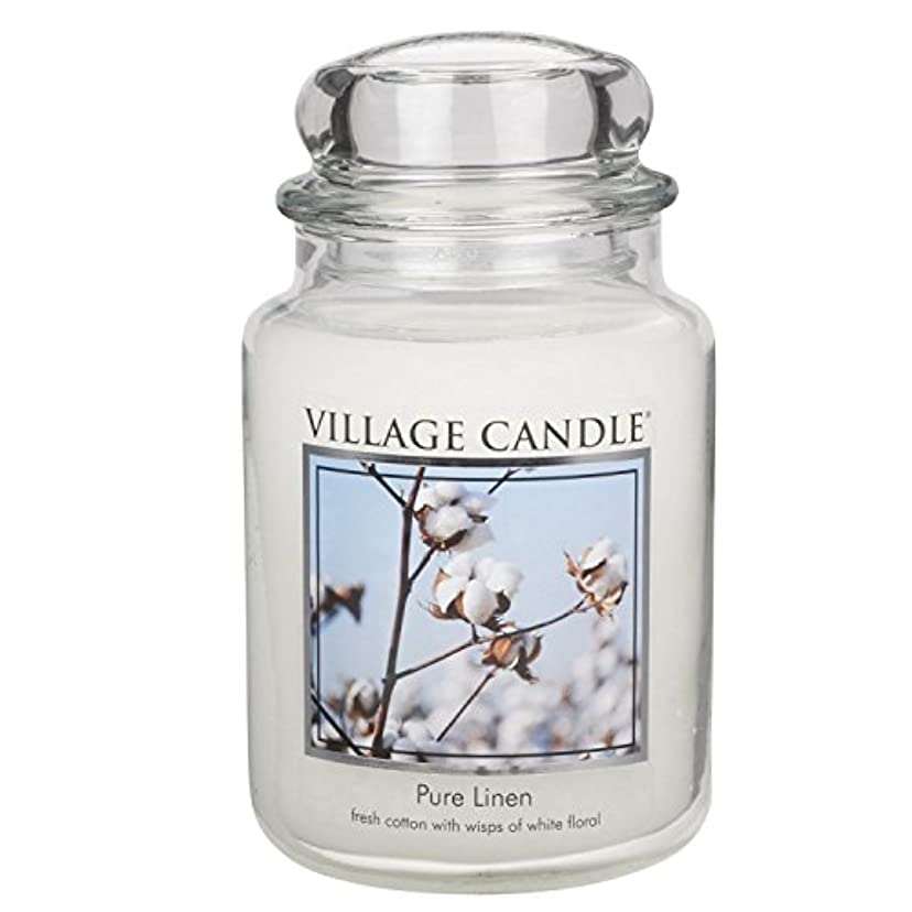 に慣れ椅子四回Village Candle Large Fragranced Candle Jar - 17cm x 10cm - 26oz (1219g)- Pure Linen - upto 170 hours burn time...
