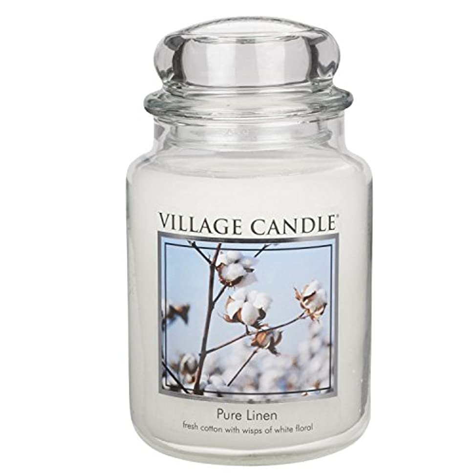 ムスタチオ祝福するつかいますVillage Candle Large Fragranced Candle Jar - 17cm x 10cm - 26oz (1219g)- Pure Linen - upto 170 hours burn time...