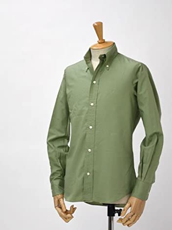 Resolute x Individualized Shirts Twill Buttondown Shirt: Olive Green