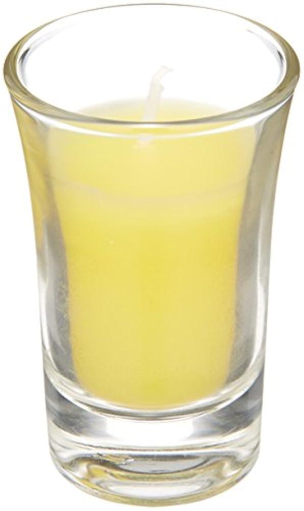グリル容赦ない十分にラナンキュラスグラスキャンドル 「 イエロー 」
