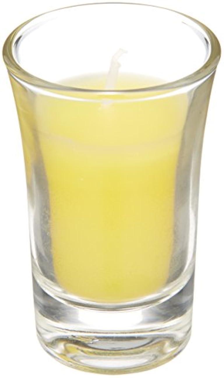 池ブラウザ天才ラナンキュラスグラスキャンドル 「 イエロー 」