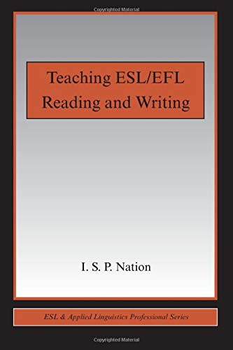 Download Teaching ESL/EFL Reading and Writing (ESL & Applied Linguistics Professional Series) 041598968X