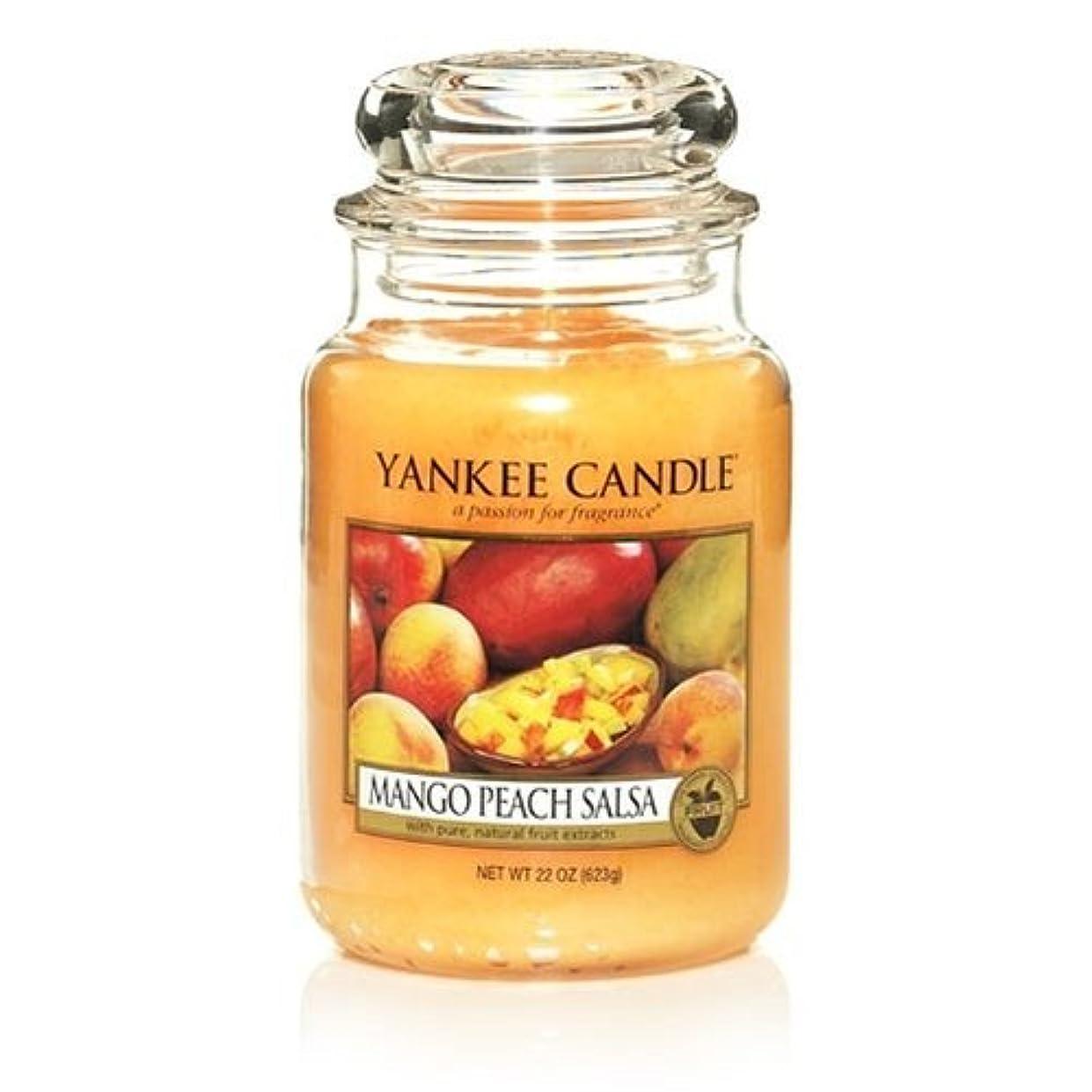 愛直面するケーブルカーYankee Candle 22-Ounce Jar Scented Candle, Large, Mango Peach Salsa [並行輸入品]