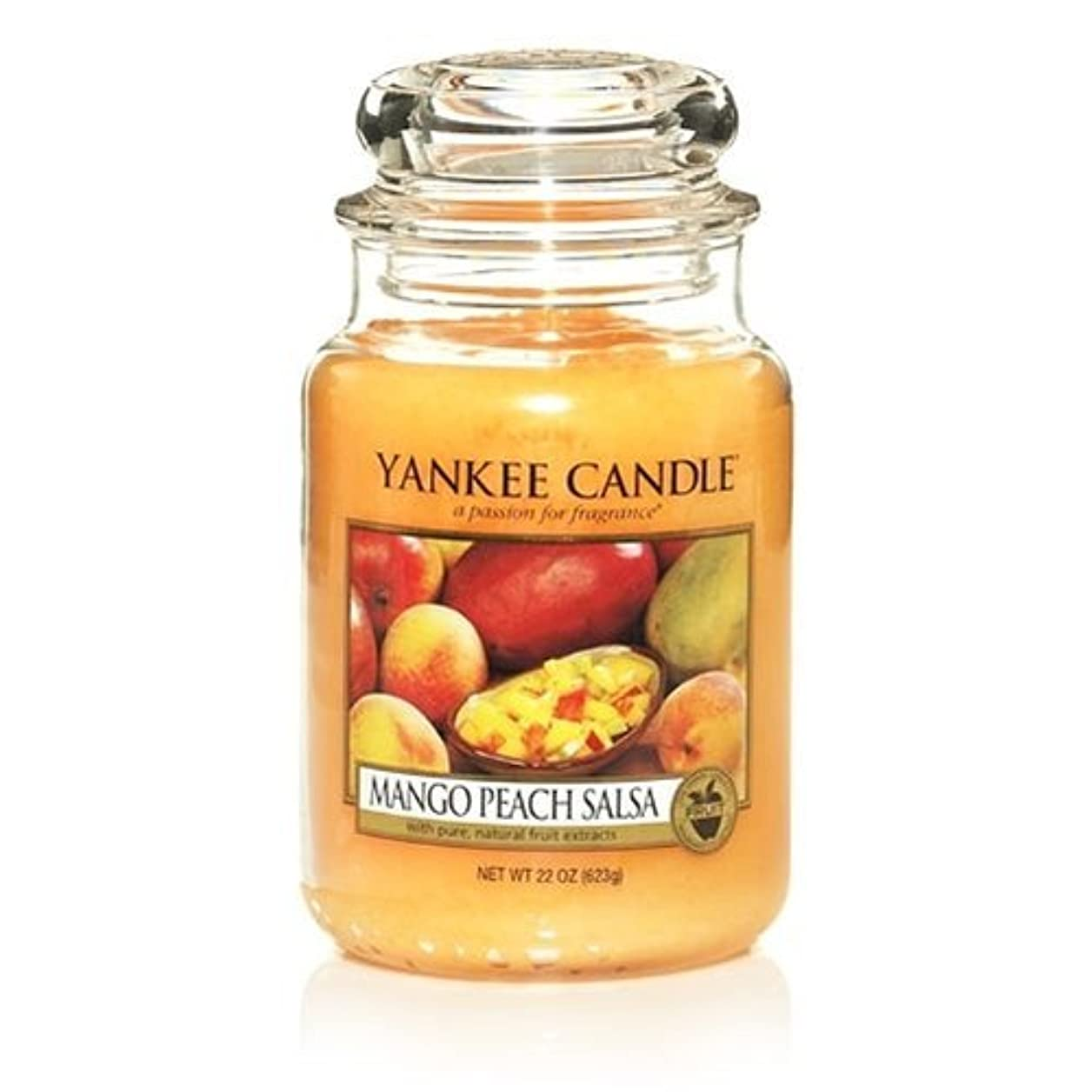 維持オーバーフローお勧めYankee Candle 22-Ounce Jar Scented Candle, Large, Mango Peach Salsa [並行輸入品]