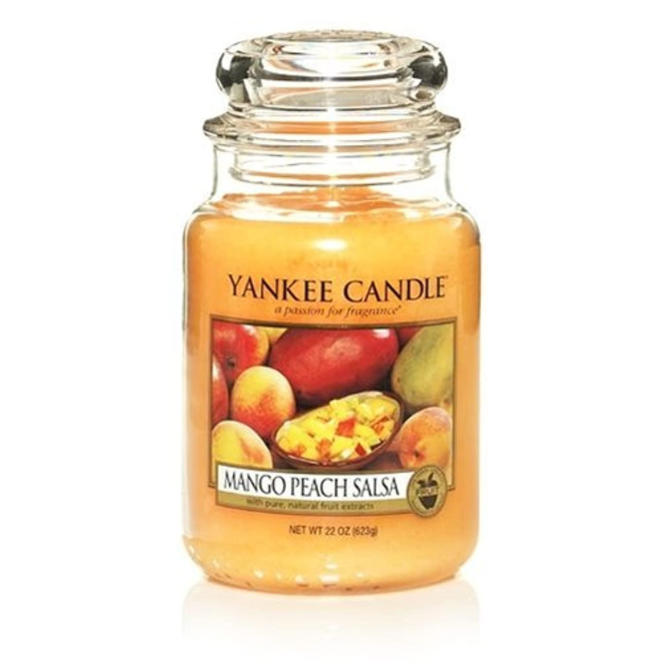 不機嫌そうな素朴な実現可能Yankee Candle 22-Ounce Jar Scented Candle, Large, Mango Peach Salsa [並行輸入品]