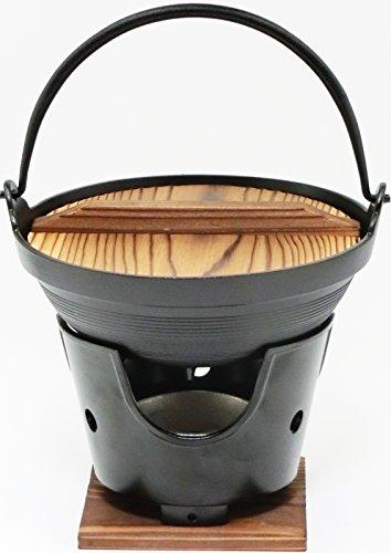 【 国産 】 ご家庭でも楽しめる プロ仕様 懐石 匠の技 いろり 鍋 18cm コンロ 火皿 付 セ...