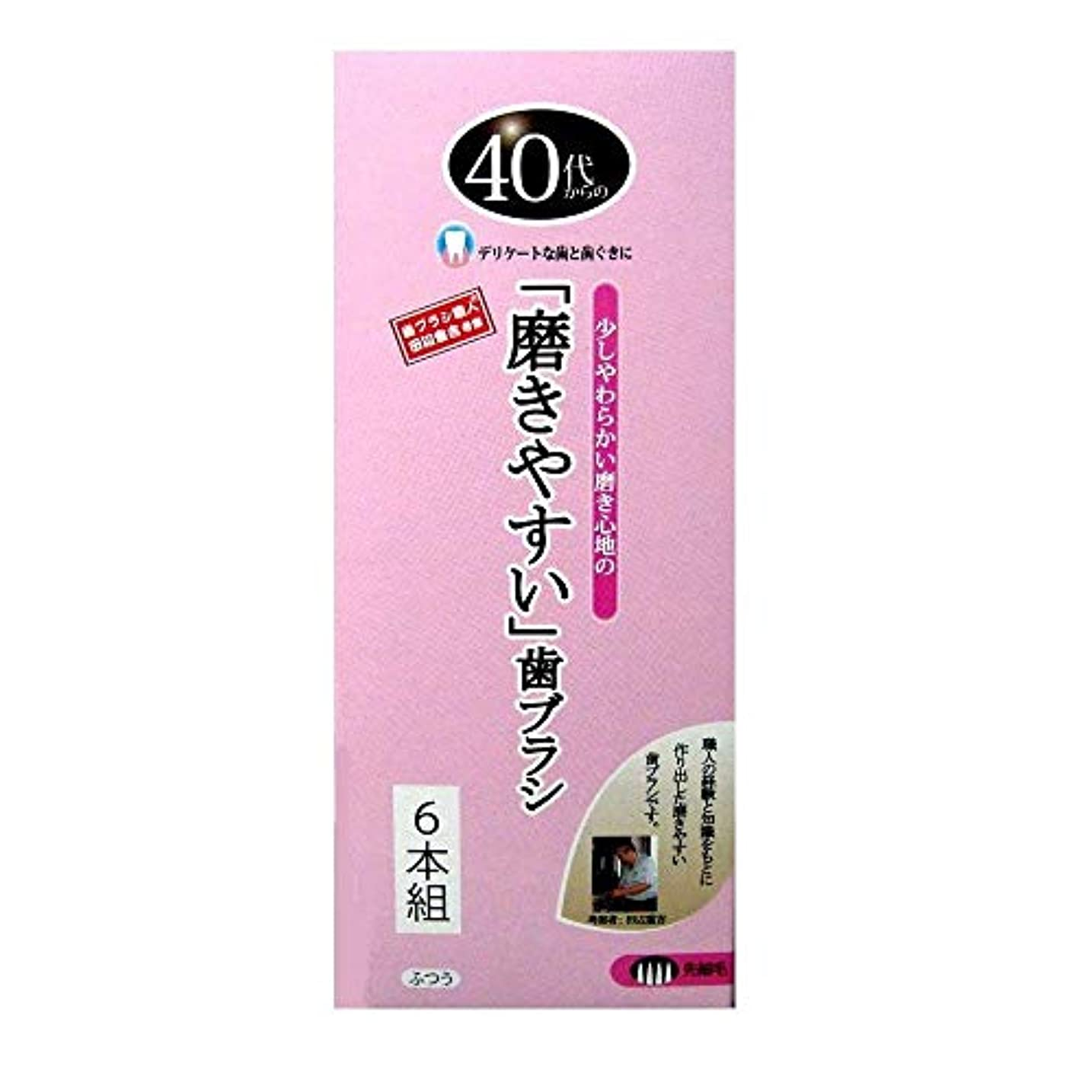 シンプルさ引退したたっぷり歯ブラシ職人 Artooth ® 田辺重吉の磨きやすい 40代からの歯ブラシ 歯ぐきにやさしい 細めの毛 先細毛 日本製 6本セットLT-15-6