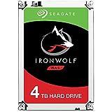 Seagate 4TB IronWolf NAS SATA 6Gb/s NCQ 64MB Cache 3.5-Inch Internal Hard Drive (ST4000VN008)