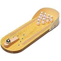 ミニ卓上ボーリングゲームwith Wooden Lane Perfect Toy for Your Little Player Easy to Assemble and Play