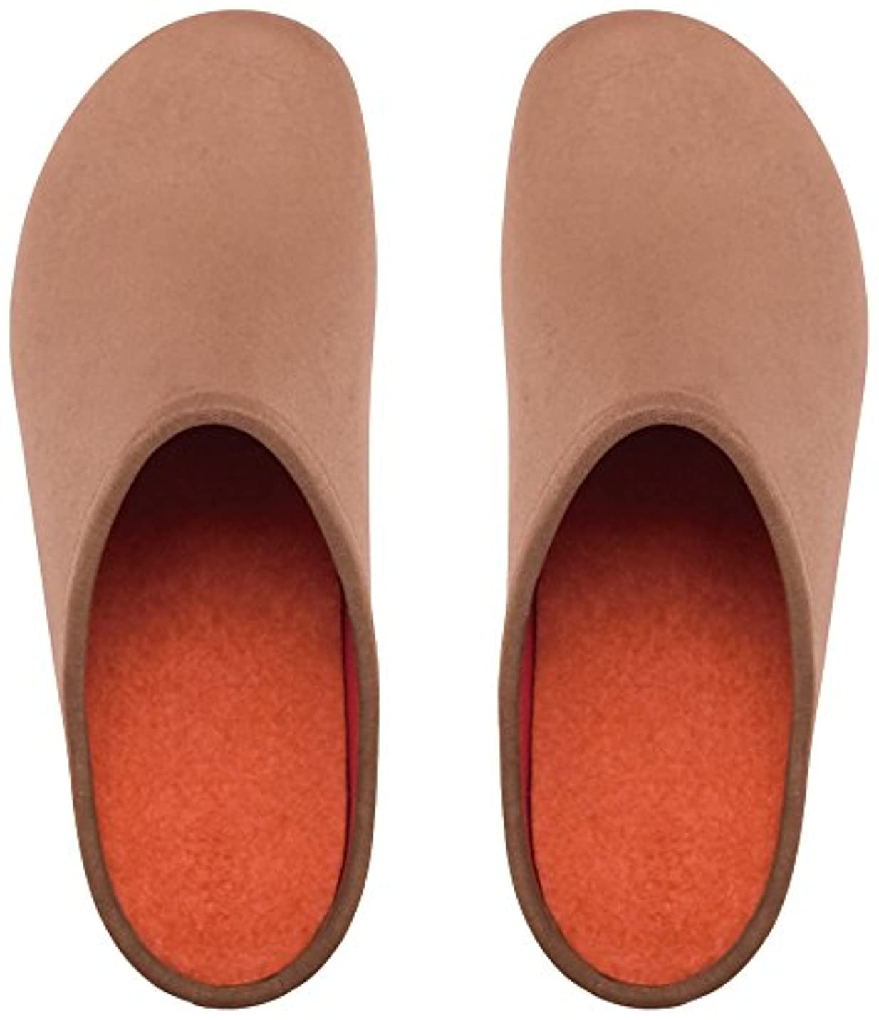 才能請求書比較的プレミアムルームシューズ「フットローブ ピエモンテ / footrobe Piemonte」プレーン(マロングラッセ)+フェルトインソール(オレンジ)セット女性用 22.0cm