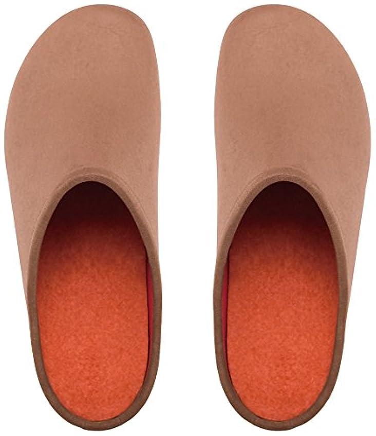 事業申し立てカエルプレミアムルームシューズ「フットローブ ピエモンテ / footrobe Piemonte」プレーン(マロングラッセ)+フェルトインソール(オレンジ)セット女性用 22.0cm