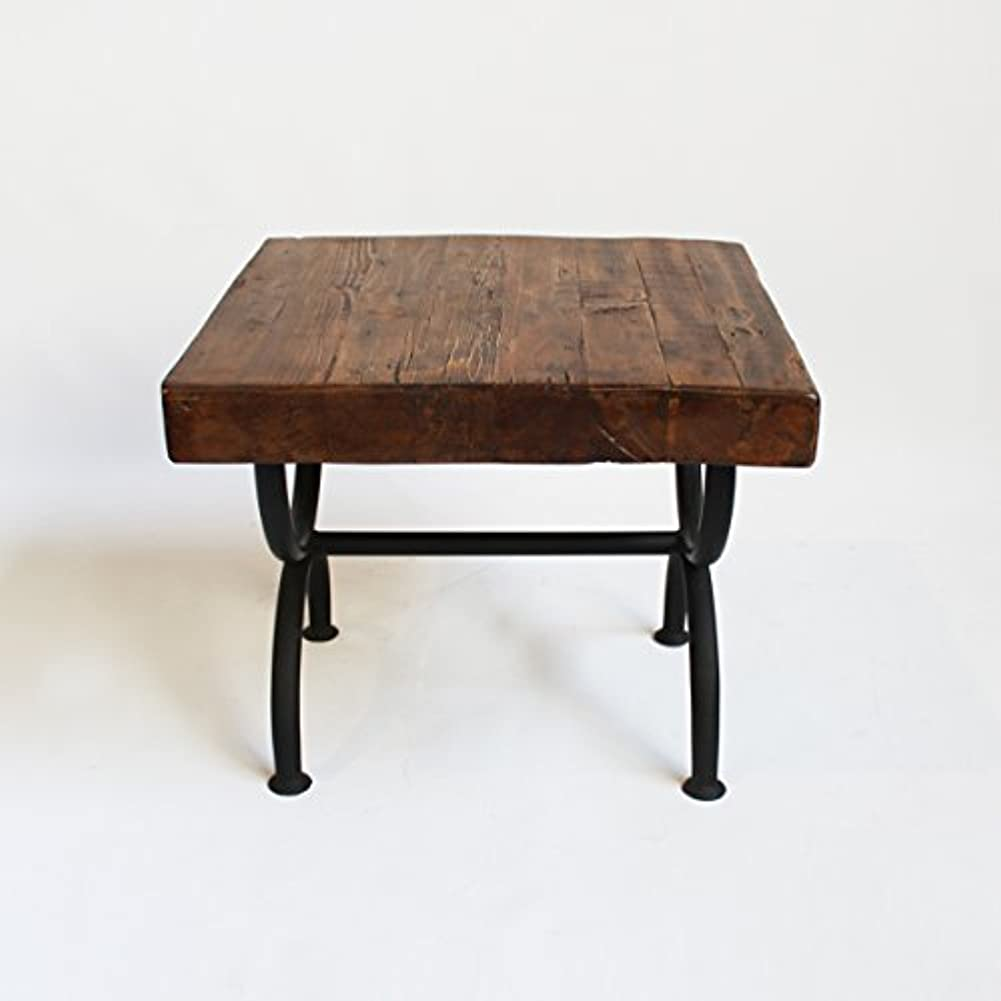 競合他社選手高架ショートカットReclaimed Wood Sideテーブル