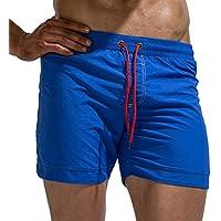 Tofern Beach Board Shorts Adjustable Drawstring Men Swim Trunks Bathing Suit Swimwear Shorts, Royal Blue XS